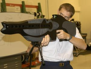 "PICTURE OF US POLICE ""PAIN BEAM WEAPON""  (D.E.W.)"