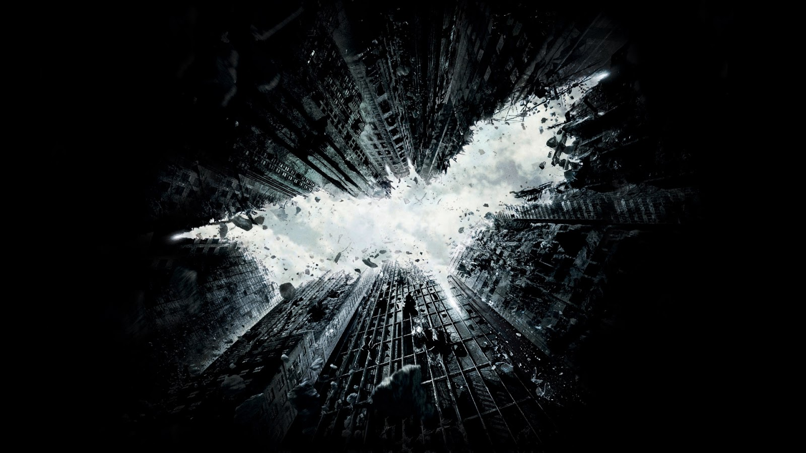 Batman the dark knight rises movie 2011 2012 buildings ruined game hd