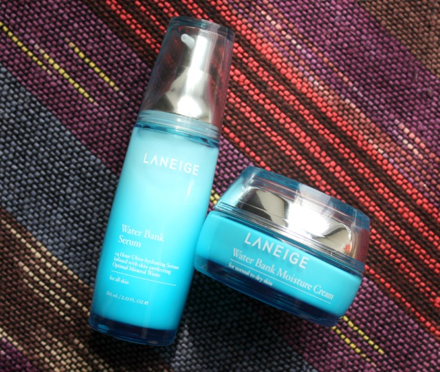 Review of LANEIGE Water Bank Serum/Essence and LANEIGE Water Bank Moisture Cream