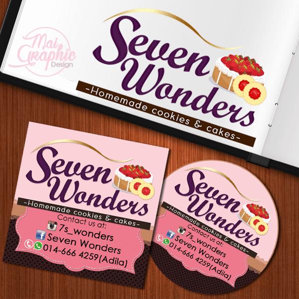 Tempahan Design Logo dan Stiker Seven Wonders