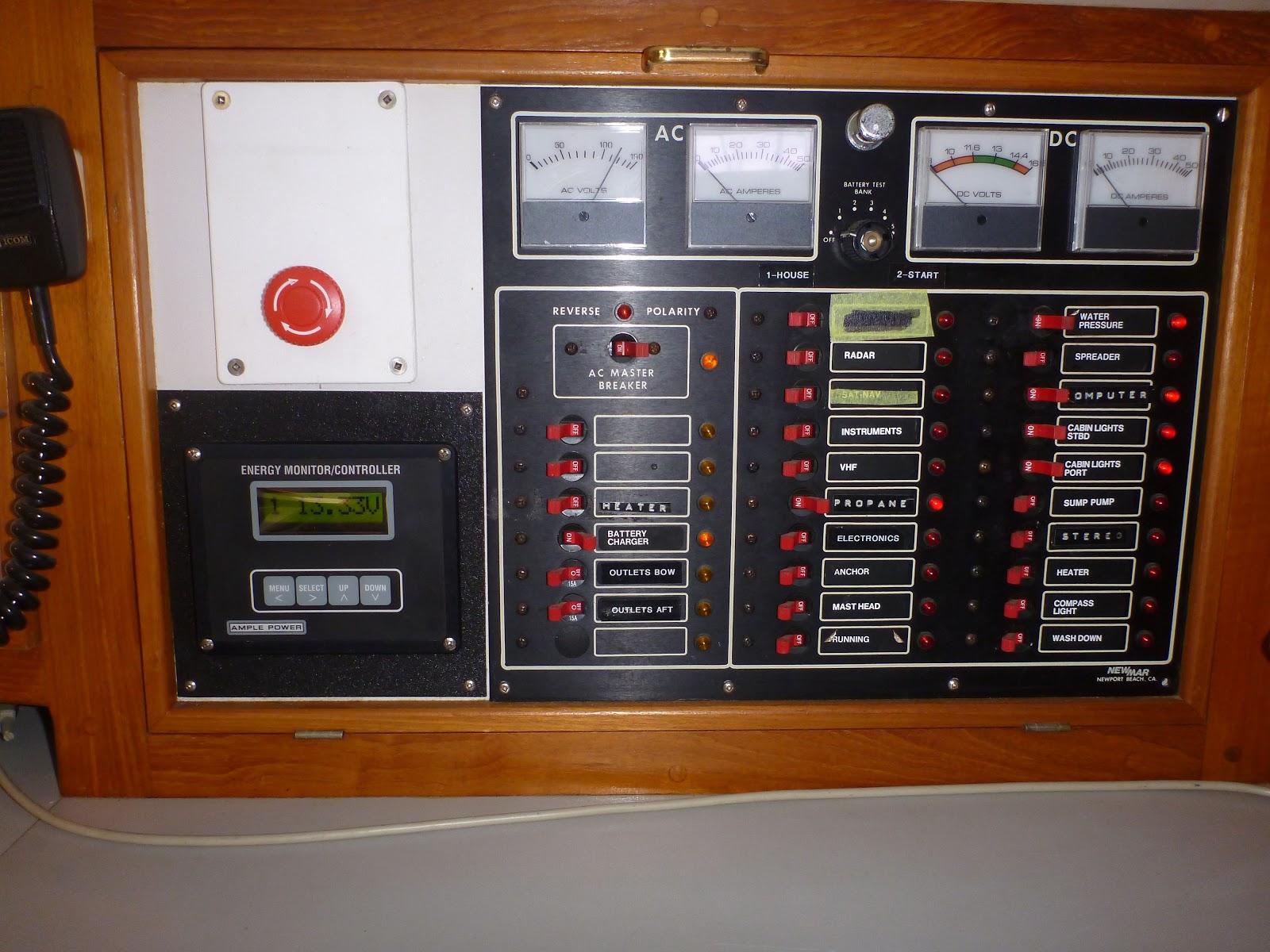 s/v Casteele, Waterline 44, photos: Navigation Station and ...