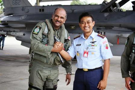 Enam F-16 Singapura Ikuti Latihan Bersama dengan TNI AU