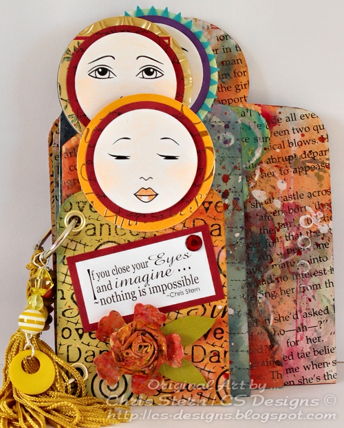 Altered Doll Book from Recycled Board Book
