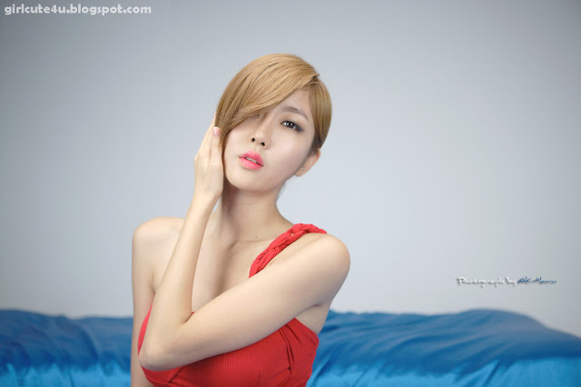 Choi-Byul-I-One-Shoulder-Red-Dress-01-very cute asian girl-girlcute4u.blogspot.com
