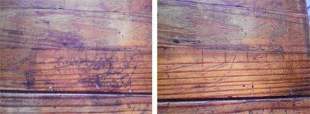 limpar a madeira