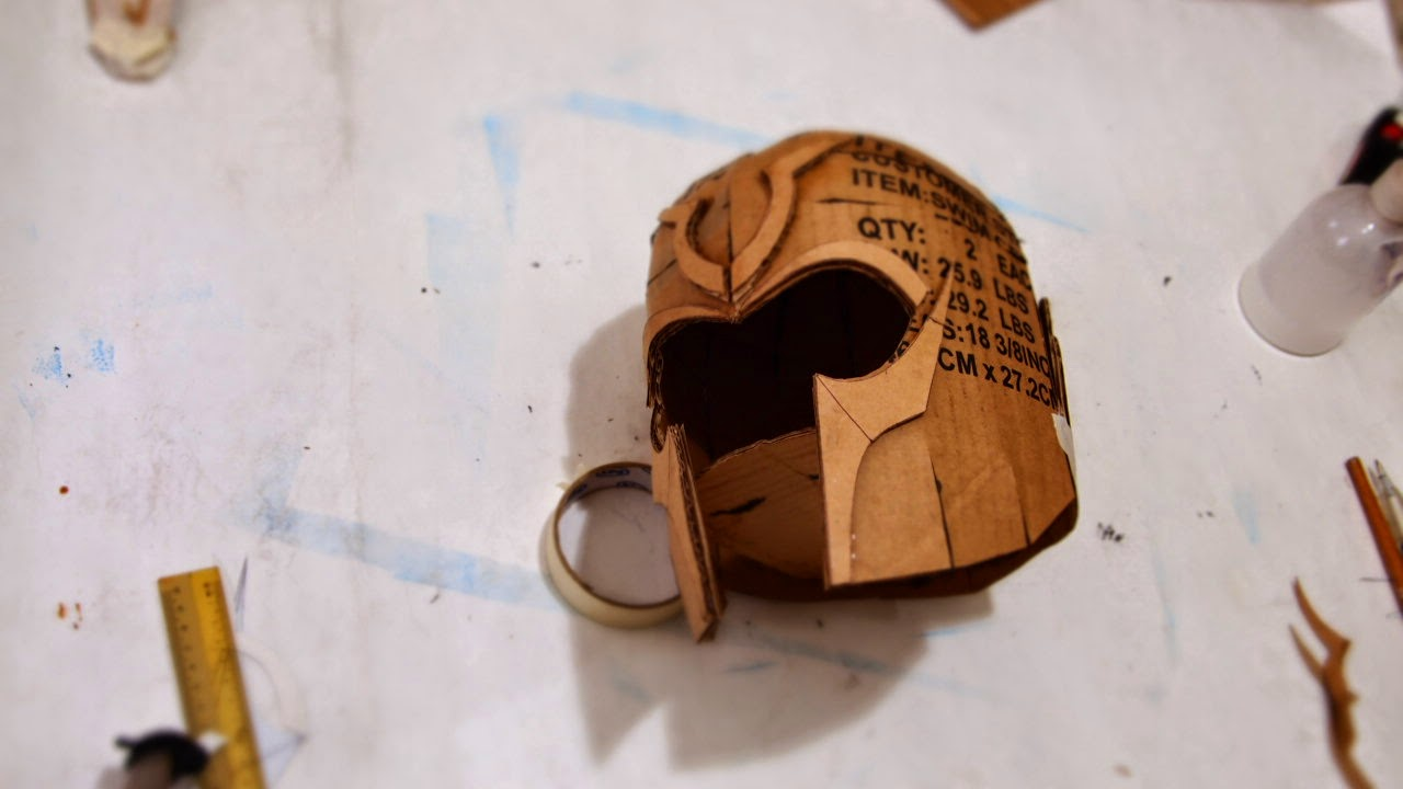 cardboard knight helmet instructions