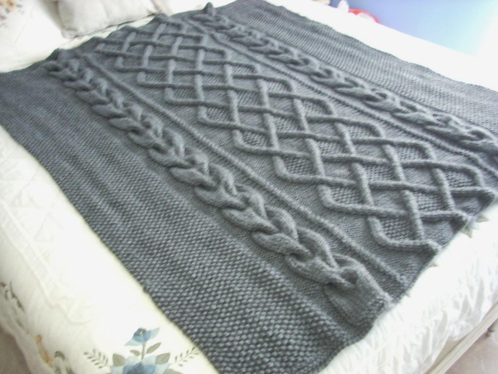 Mi tricotosa y yo manta tejida a mano for Sofas y punto