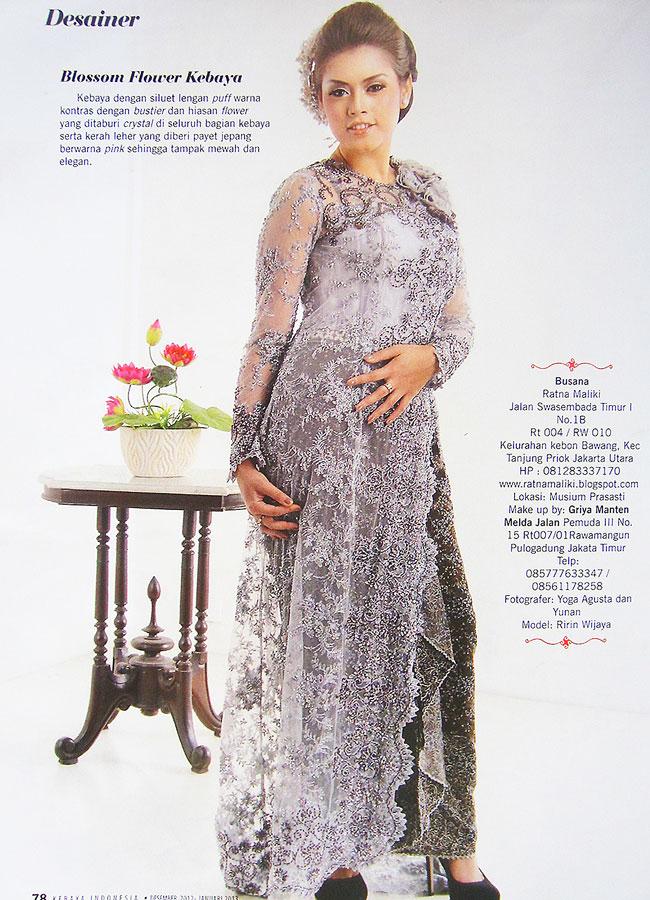 Ratna Maliki Kebaya dalam rubrik Desainer di Majalah Kebaya Indonesia
