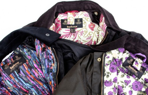 Barbour Beadnell Liberty Red Rose