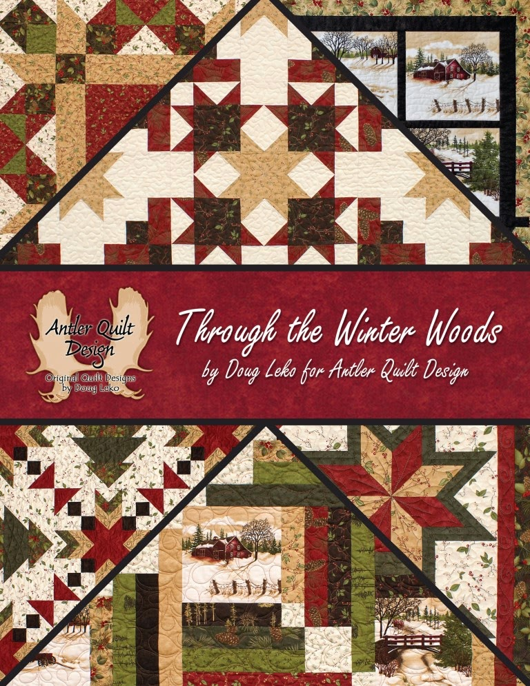 May 2014 book of the month through the winter woods fat quarter
