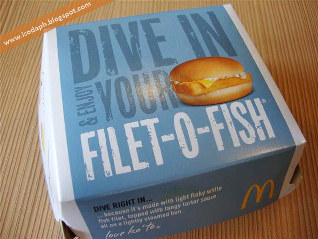 mcdonald 39 s filet o fish burger isoda philippines