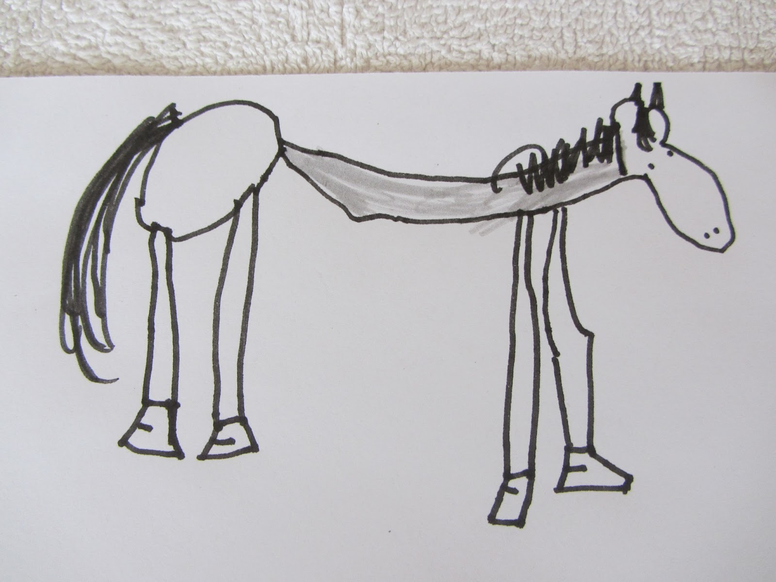 Simple Horse Drawing Kids