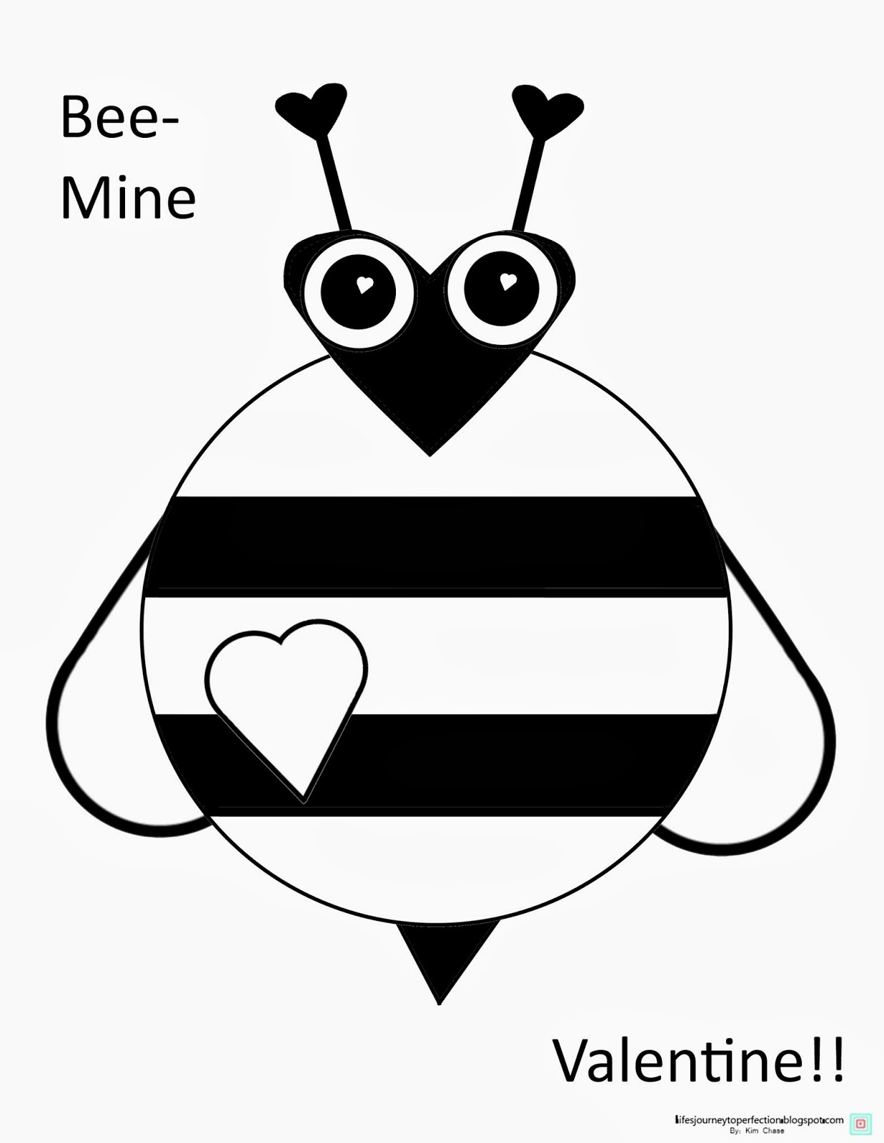 Bee Mine Valentine Pages Coloring Pages