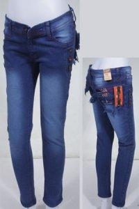 Jeans LOGO Jegging 161 - Biru (Toko Jilbab dan Busana Muslimah Terbaru)
