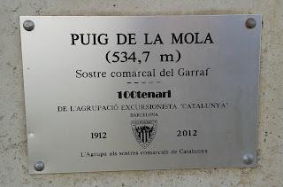 Puig de la Mola (Sostre comarcal del Garraf)
