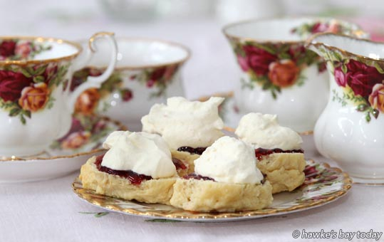 High Tea - China and scones and jam photograph