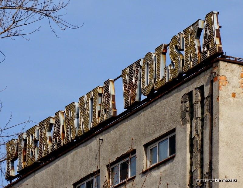 Warszawa neon neony Wola Obozowa warszawskie neony stolica