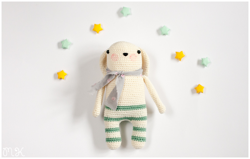 muñeco amigurumi realizado a ganchillo