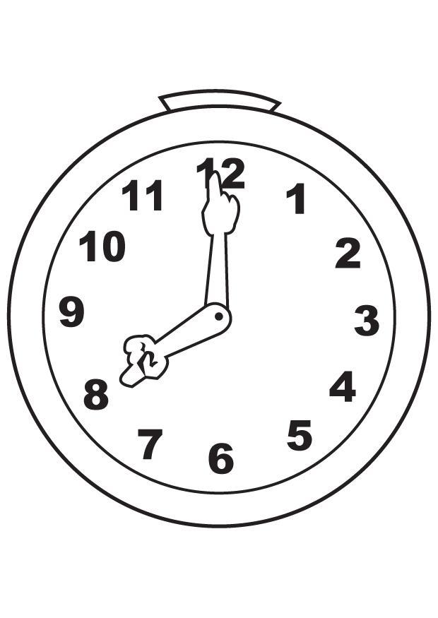 Dibujos para colorear: Dibujos de relojes para colorear
