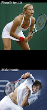 Tennis: Männer vs. Frauen (Satire-Fotos)