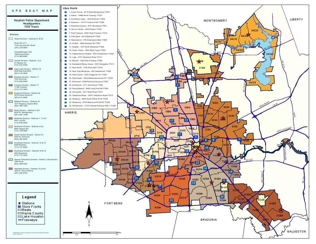 Houston Police Jurisdiction Map