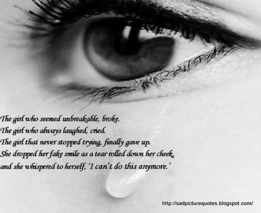 Sad Love Quotes About Eyes : sad eyes with tears