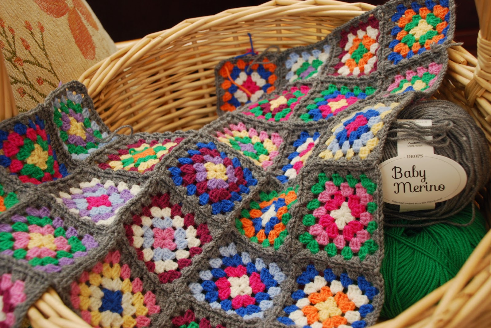 image of crochet granny squares
