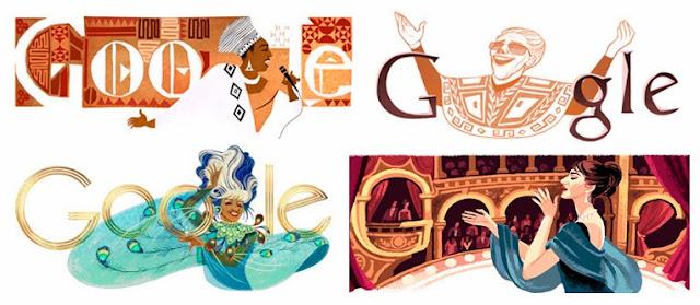 Doodles dedicados a cantantes, aniversario nacimiento