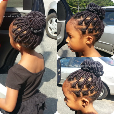 Yarn Wrap Installment on Daughter's Natural Hair ...