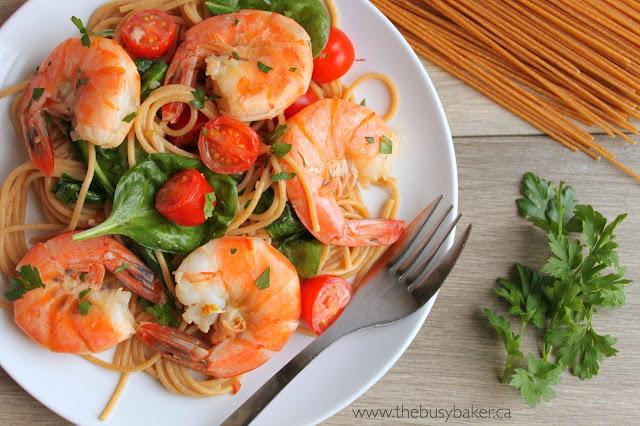 Easy Healthy Shrimp Scampi