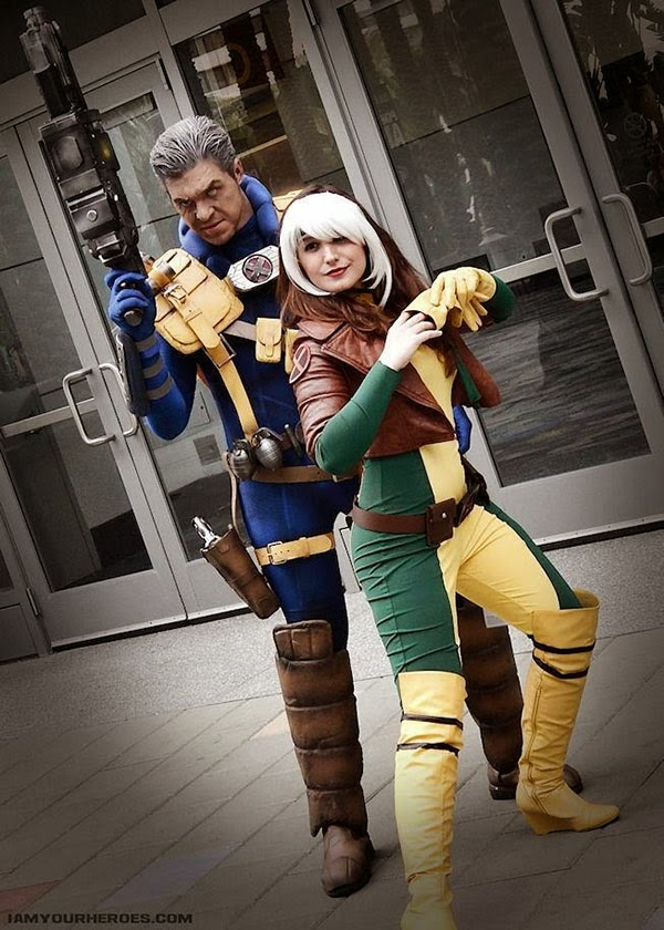 Cosplay Cable y Rogue