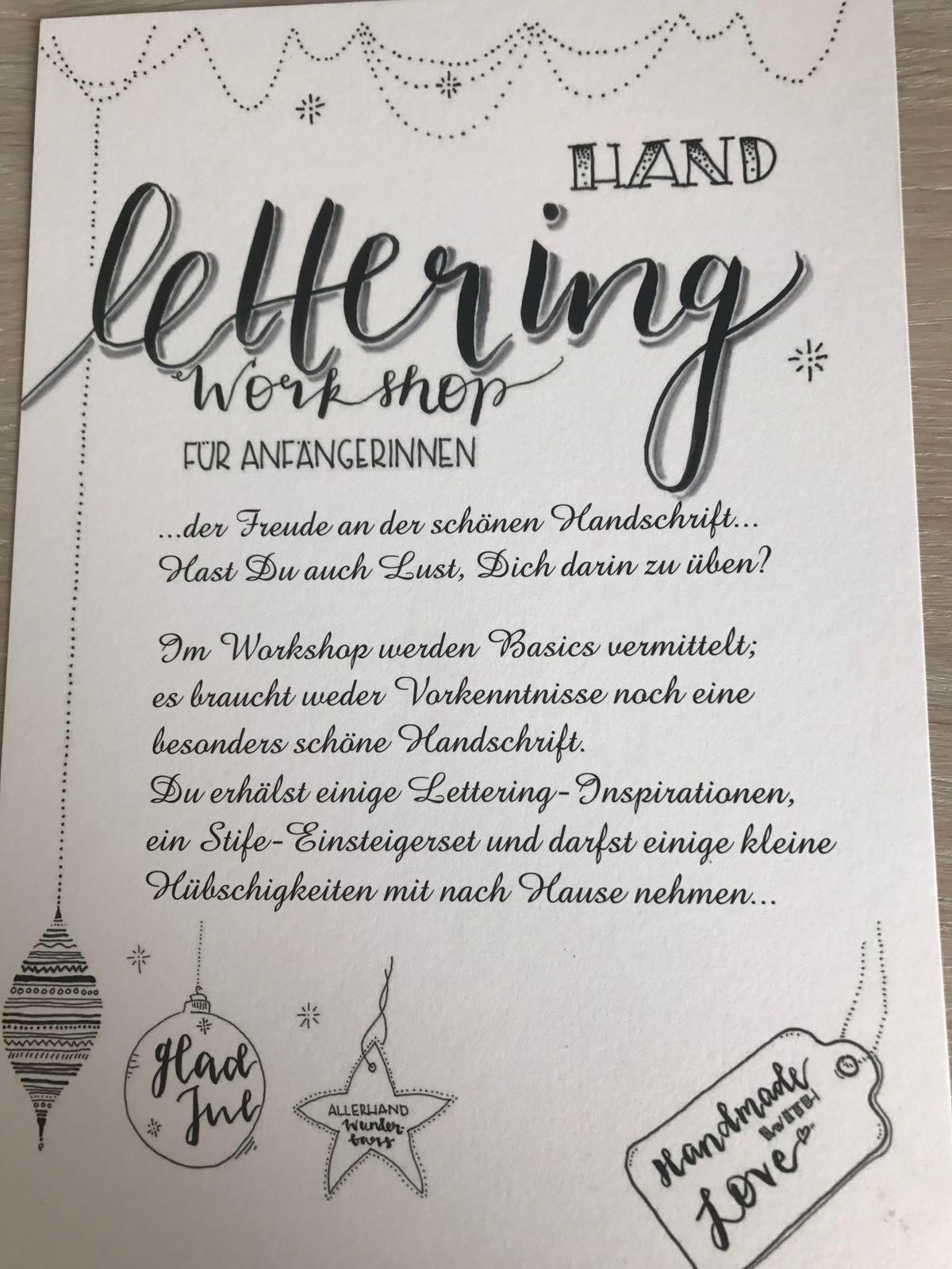 Handlettering Workshop 27.10.18