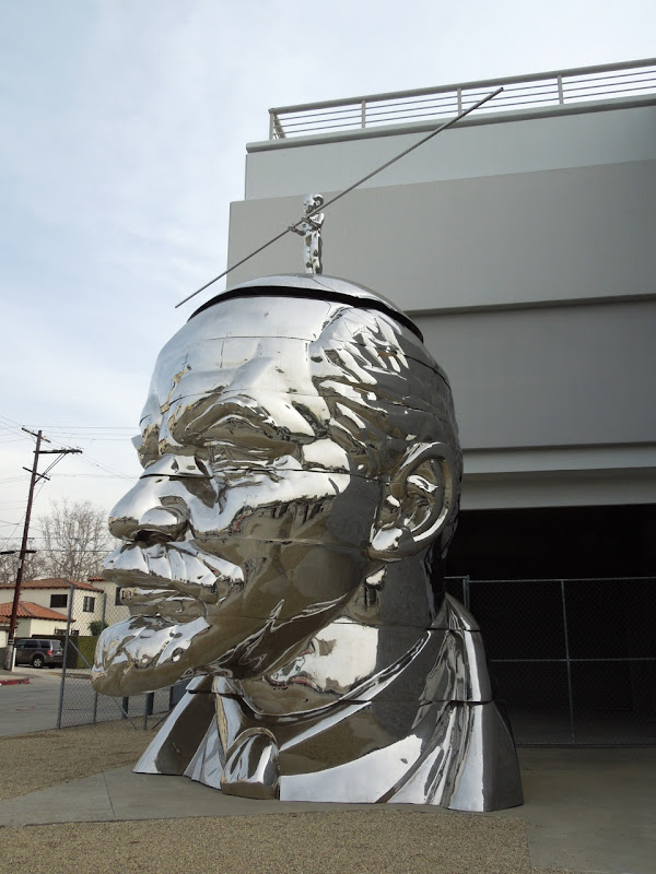Giant Lenin Head sculpture