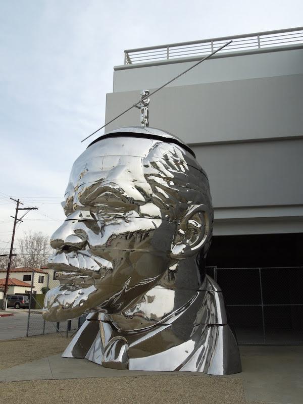 Giant Lenin Head sculpture