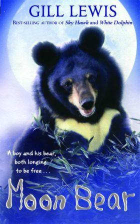 Gorgeous cute cover for Gill Lewis' novel Moon Bear