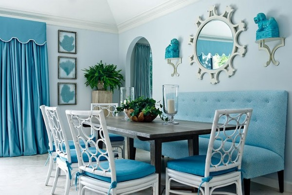 Small dining room decorating ideas dream house experience for Blue dining room ideas