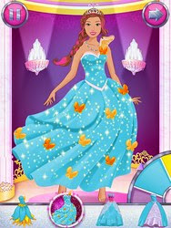Screenshots of the Barbie Magical Fashion for Android tablet, phone.