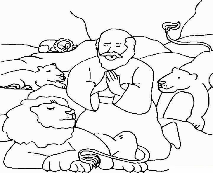 Imagenes Cristianas Para Colorear: Dibujos Para Colorear De Daniel y ...