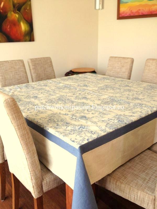 Patchwork mi pasion un mantel para tu mesa for Tela para manteles de mesa