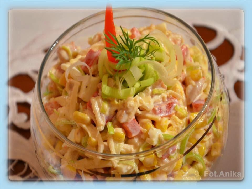 Domowa Kuchnia Aniki Salatka Z Selerem Konserwowym I Porem