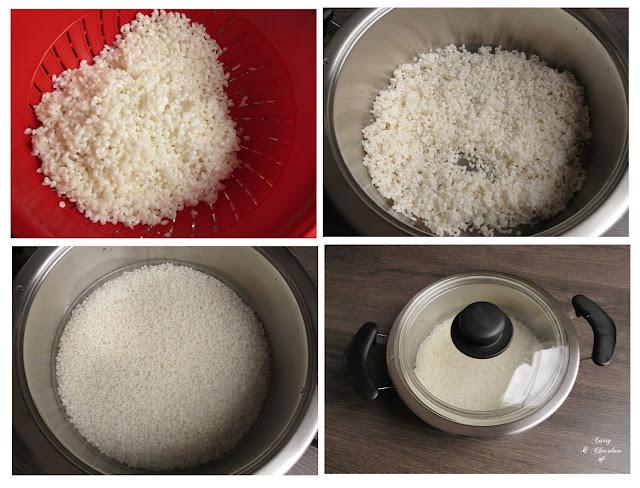 Cociendo el arroz