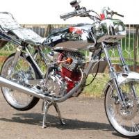 Modifikasi Motor Honda GL Pro Full Semua Di Crom