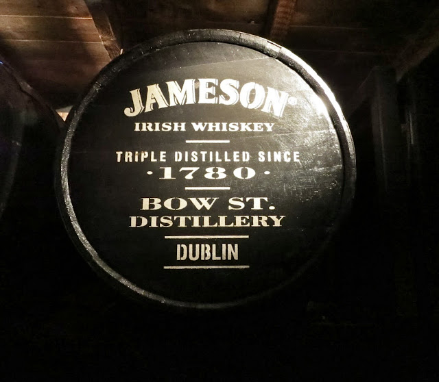 Whiskey barrel at Jameson Distillery in Dublin