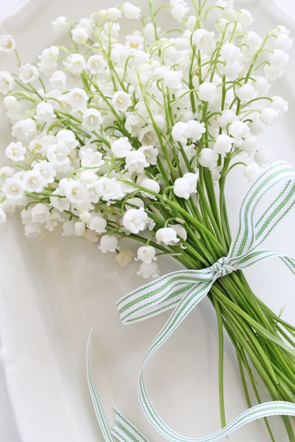Lily of the valley on pinterest lilies bouquets and for Bouquet de fleurs muguet