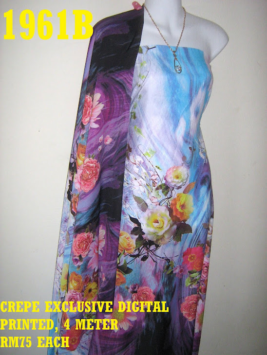 CDP 1961B: CREPE EXCLUSIVE DIGITAL PRINTED, 4 METER
