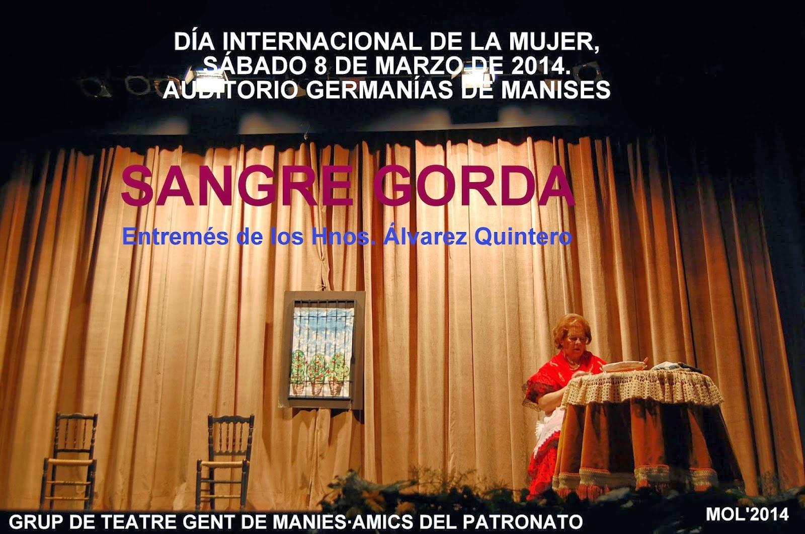 EL GRUP DE TEATRE GENT DE MANISES·AMICS DEL PATRONATO EN EL HOMENAJE A LA MUJER