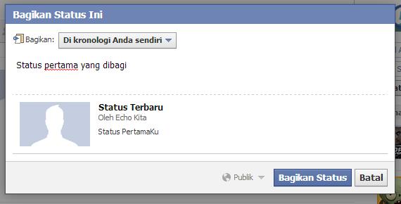 bagikan status fb