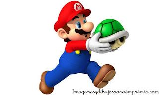 Mario eliminando los enemigos tortuga