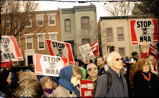 People protesting the NRA