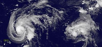 OPHELIA ist der vierte Hurrikan der Atlantischen Hurrikansaison 2011, Ophelia, Vorhersage Forecast Prognose, Verlauf, aktuell, September, 2011, Hurrikansaison 2011, Satellitenbild Satellitenbilder, Bermudas, Neufundland, Atlantik,